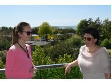 """Produkto vadybininkė Ermina Šablauskytė ir UAB """"Grimo akademija"""" direktorė Eglė Pališkienė mielai naudojasi """"Amber Palace"""" paslaugomis."""