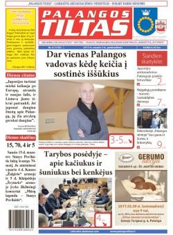 Palangos tilto laikraštis, Data: 2017-02-02, Numeris: 8(1539)