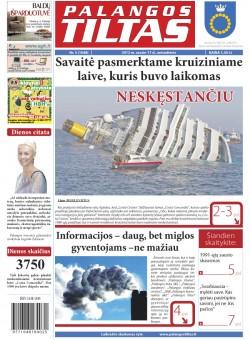 Palangos tilto laikraštis, Data: 2012-01-16, Numeris: 5 (1048)