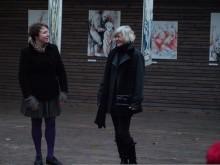 Menotyrininkė R.Jakštonienė ir parodos autorė R.Ščerbakovienė. V.Ščerbakovo nuotr.