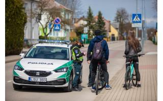 Policijos pareigūnai Palangoje sustabdė 23 dviračius KET pažeidėjus
