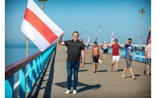Palangos meras Šarūnas Vaitkus originaliai išreiškė palaikymą demokratinei Baltarusijai