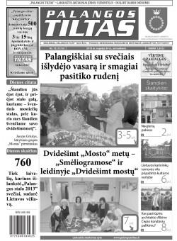 Palangos tilto laikraštis, Data: 2013-09-23, Numeris: 72 (1213)