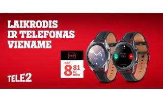"""Šventiniai """"Tele2"""" pasiūlymai: dovanos, eSIM laikrodžiai ir dvigubai daugiau duomenų"""