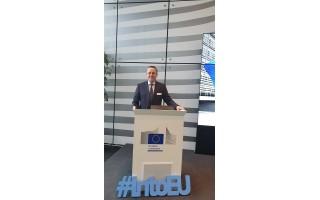 Meras Šarūnas Vaitkus su kitais LSA atstovais dalyvavo Europos Komisijos renginyje