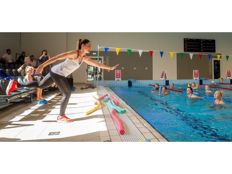 Palangoje vaikai vasarą pramogauja ne tik baseine
