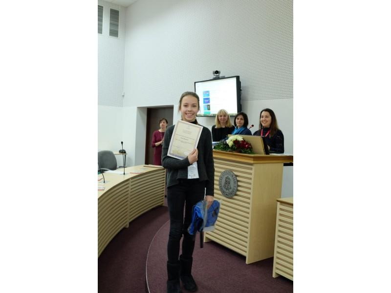 Jorė iš Palangos - antra iš geriausių prancūzų kalbos mokinių visoje Lietuvoje
