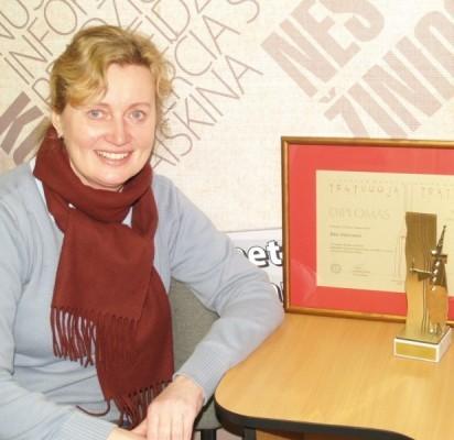 """R. Milinienė šiais metais respublikinėje mėgėjų teatro šventėje """"Tegyvuoja teatras"""" tapo nominacijos """"Ryškiausia aktorė"""" laureate ir apdovanota diplomu bei statulėle """"Tegyvuoja teatras""""."""