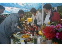 Šventės svečiai degustavo Lietuvos sveikuolių sąjungos šeimininkių paruoštus patiekalus.