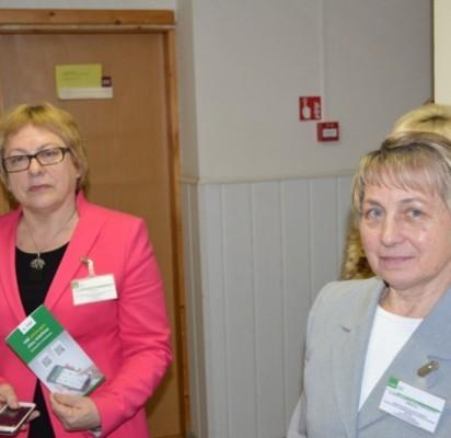 Iš kairės Palangos poskyrio vedėja Elena Kuznecova ir Palangos poskyrio vyresnioji specialistė Stanislava Bagdonienė.
