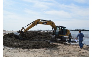 Šventosios paplūdimyje – dar neregėta gamtos stichija