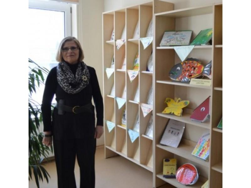 Bagdonienė pasidžiaugė mažųjų skaitytojų sukurtomis knygelėmis.