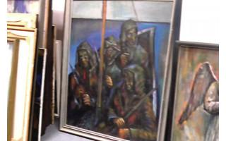 """Vydmantų kultūros namų salėje vyksta V.Moncevičiaus – Mončio darbų paroda ,,Išėjusiems atminti"""""""