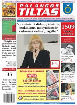 Palangos tilto laikraštis, Data: 2013-08-29, Numeris: 65 (1206)