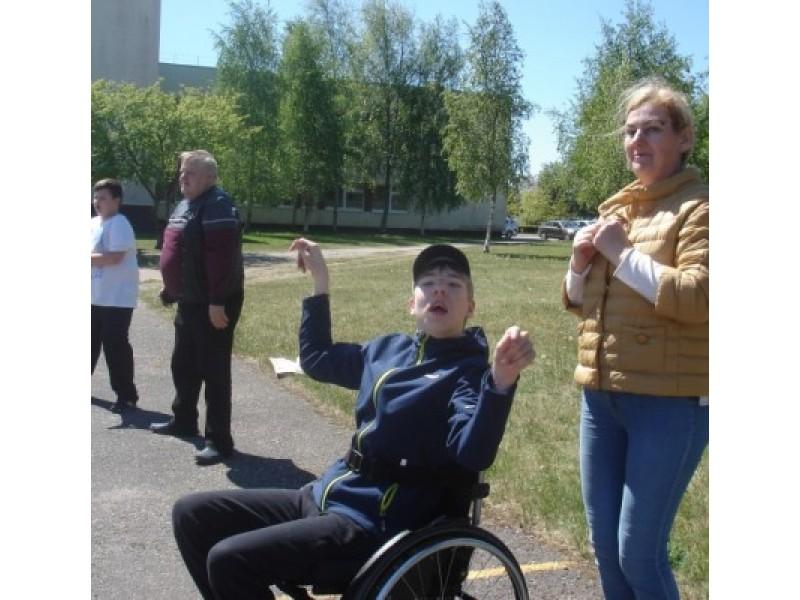 """""""Baltijos"""" specialiosios klasės mokiniai dalyvavo sporto šventėje"""