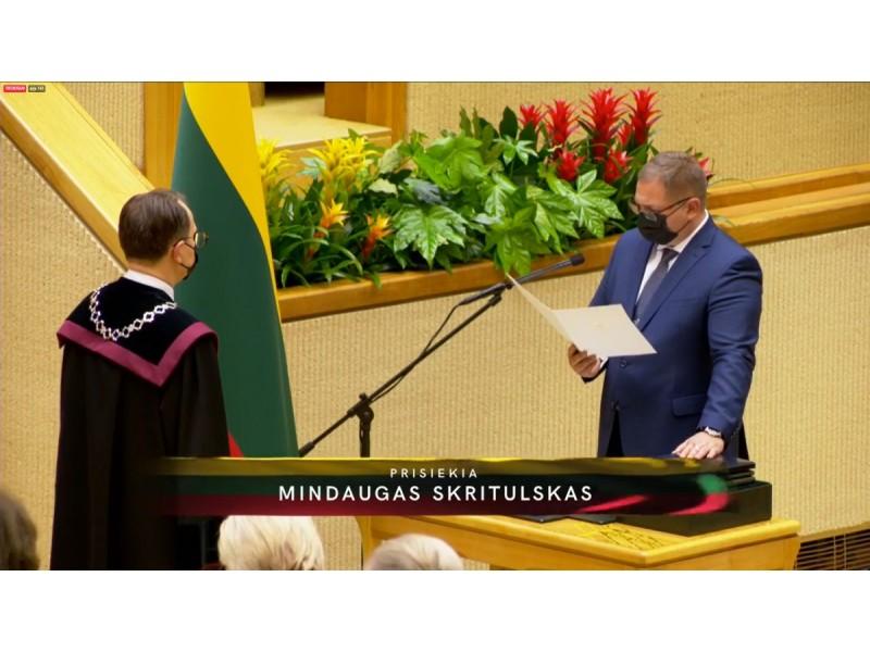 Prisiekę XIII Seimo nariai – tarp jų ir Mindaugas Skritulskas – įgijo visas Tautos atstovų teises