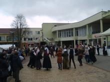 Į ratelius su festivalio dalyviais įsitraukė ir žiūrovai.