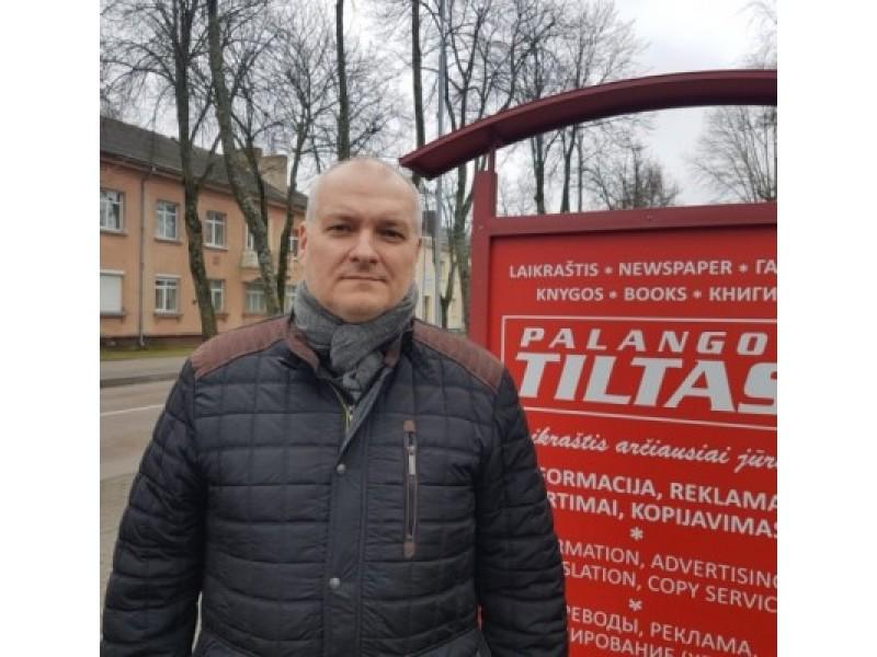 """Palangos krepšinio klubo """"Palanga"""" direktorius Arūnas Vaitulionis."""