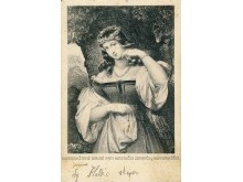 Paulinos Mongirdaitės atvirukas, skirtas kunigaikštienei Birutei. J. Klietkutės kolekcija.