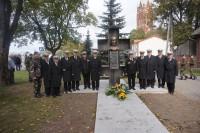 """Palangos  """"Jūrų šauliai"""" dalyvavo paminklo Vladui Putvinskiui Putviui atidarymo iškilmėse Kelmėje"""