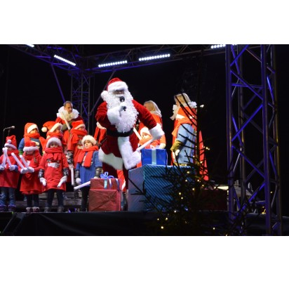 Palanga įžiebė eglę ir suspindo tūkstančiais kalėdinių šviesų