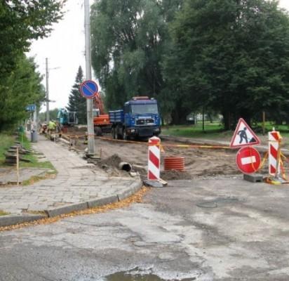 Jūros gatvės rekonstrukcija Šventojoje vyksta sparčiai