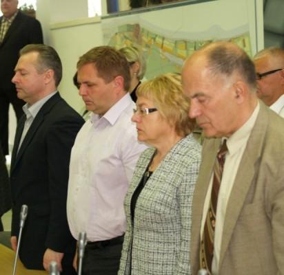 Tylos minute buvo pagerbtas netikėtai mirusio Tarybos nario Giedriaus Šatkausko atminimas.