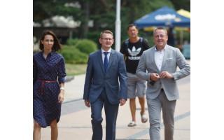 Palangoje lankėsi Sveikatos apsaugos ministras Arūnas Dulkys