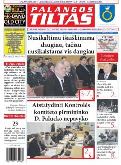 Palangos tilto laikraštis, Data: 2014-01-16, Numeris: 5(1243)