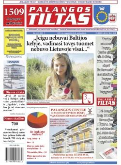 Palangos tilto laikraštis, Data: 2014-08-25, Numeris: 63(1301)