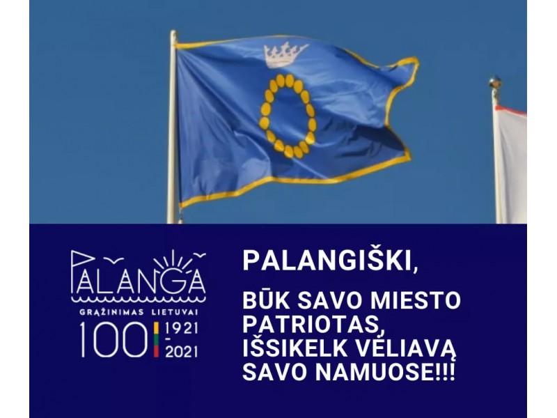 Palanga pasitinka savo grąžinimo Lietuvai šimtmetį ir dabinasi miesto vėliavomis: visi palangiškiai kviečiami ją iškelti savo namuose