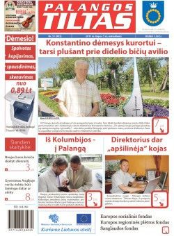 Palangos tilto laikraštis, Data: 2011-07-04, Numeris: 51 (995)