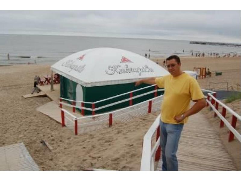Verslininkas Artūras Timukas konkurse laimėjo strateginius prekybos Palangos paplūdymyje taškus