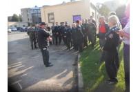 Vykdant mokymus pasieniečiai buvo raginami papildyti savanorių ugniagesių gretas