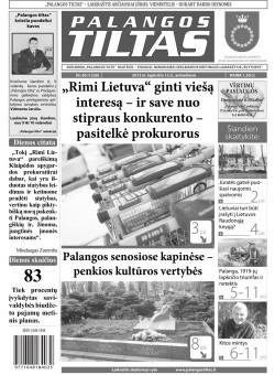 Palangos tilto laikraštis, Data: 2013-11-11, Numeris: 85 (1226)