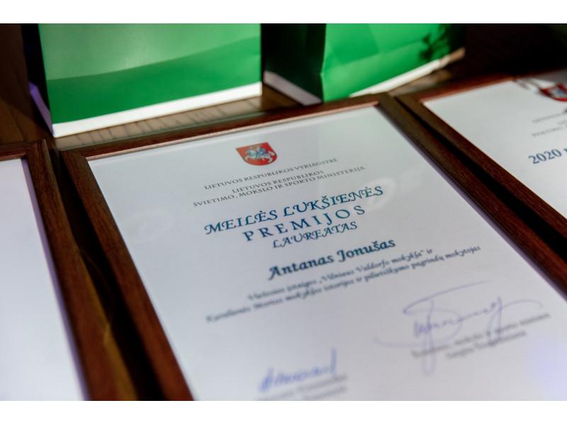 Tarp apdovanotų geriausių mokytojų Švietimo ir mokslo ministerijoje palangiškių nebuvo
