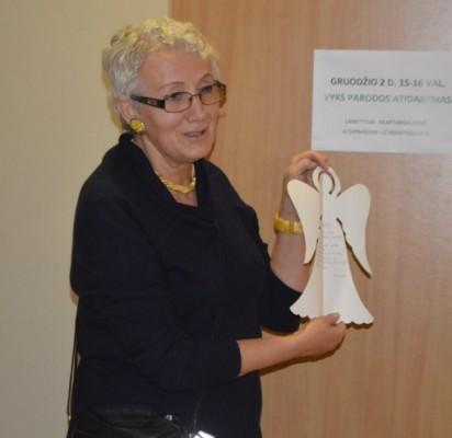 Parodos autorė Birutė Mockuvienė papasakojo, kaip ją fotografuoti įkvėpė angelas.