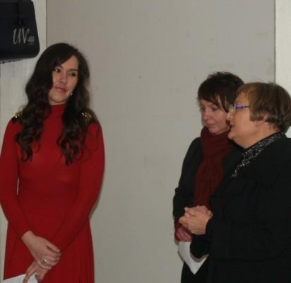 L.Guokės (kairėje) parodą pristatė R.Jakštonienė ir L.Turauskaitė.