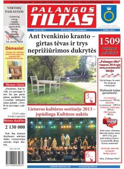 Palangos tilto laikraštis, Data: 2013-07-08, Numeris: 51 (1192)