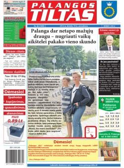 Palangos tilto laikraštis, Data: 2012-06-18, Numeris: 46 (1089)
