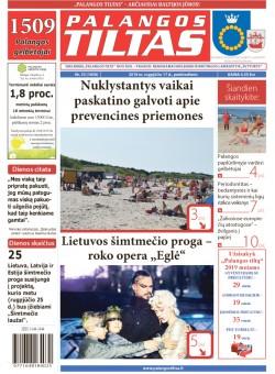 Palangos tilto laikraštis, Data: 2018-08-16, Numeris: 33(1658)