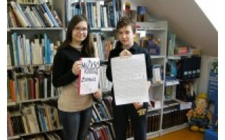 Šventosios pagrindinės mokyklos mokiniai pagerbė knygnešius