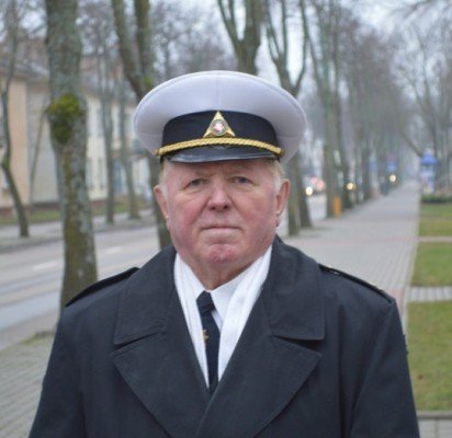 Klaipėdos apskrities Jūros šaulių trečiosios rinktinės Palangos šaulių šeštosios kuopos vadas Adolfas Sendrauskas.