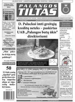 Palangos tilto laikraštis, Data: 2013-11-25, Numeris: 89 (1230)