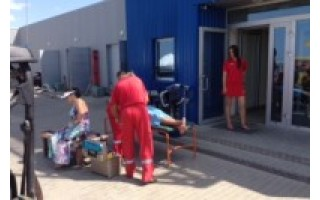 J.Pirožnikas nuotraukose užfiksavo nelaimę, pagalbos suteikimą nukentėjusiesiems bei Greitosios pagalbos atvykimą.