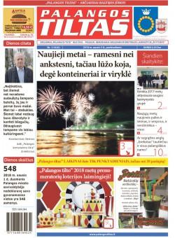 Palangos tilto laikraštis, Data: 2018-01-04, Numeris: 1(1626)