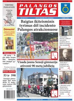 Palangos tilto laikraštis, Data: 2013-04-22, Numeris: 30 (1171)