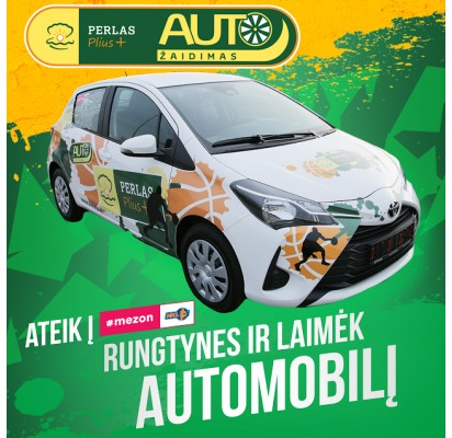 """Lankykis """"Palangos"""" rungtynėse ir laimėk išskirtinį prizą – automobilį """"Toyota Yaris""""!"""