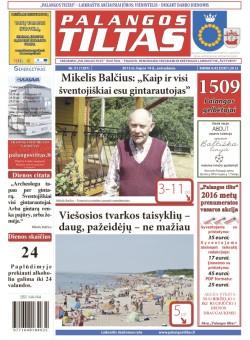 Palangos tilto laikraštis, Data: 2015-07-13, Numeris: 51(1387)