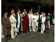 L. Andrikienė su Dalai Lama Dharamšaloje